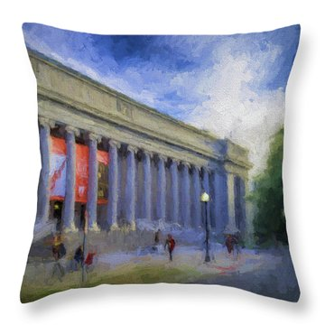 Boston Mfa On The Fenway Throw Pillow