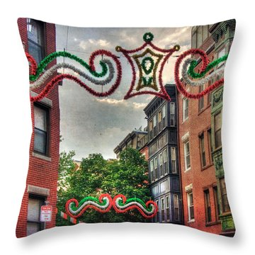 Throw Pillow featuring the photograph Boston North End Saint Anthony's Feast by Joann Vitali