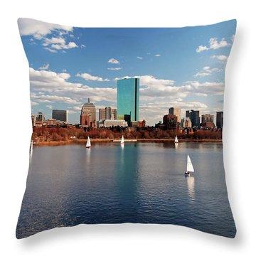 Boston On The Charles  Throw Pillow