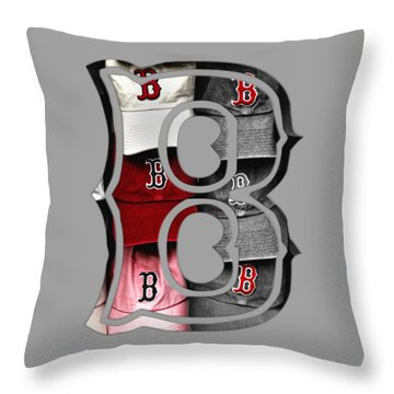 Boston Red Sox B Logo Throw Pillow