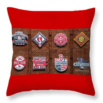 Boston Red Sox World Series Emblems Throw Pillow