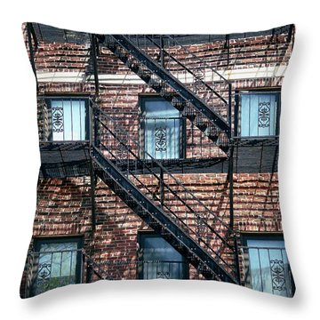 Boston Stairs Throw Pillow