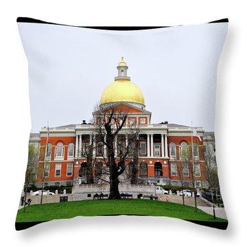 Massachusetts State House Throw Pillow