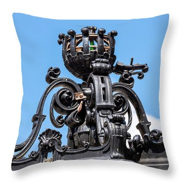 Boston Subway Station Ironwork Detail Throw Pillow