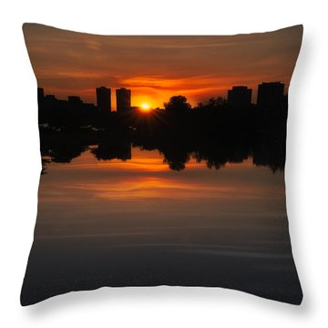 Boston Sunrise Throw Pillow
