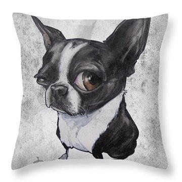 Boston Terrier - Grey Antique Throw Pillow
