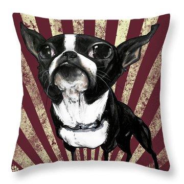 Boston Terrier Revolution Throw Pillow