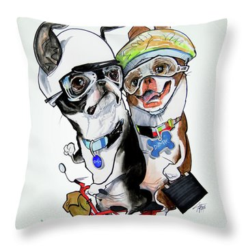 Boston Terriers - Dumb And Dumber Throw Pillow