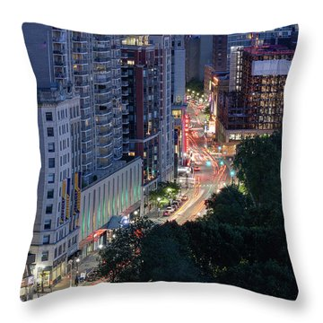 Throw Pillow featuring the photograph Boston Tremont St by Michael Hubley