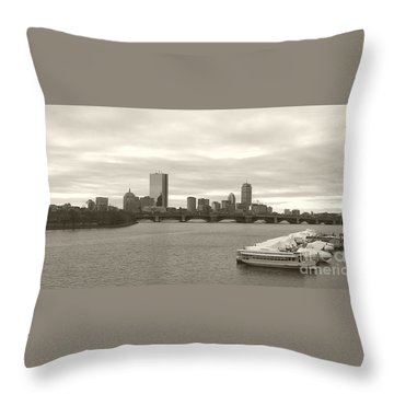 Boston View Throw Pillow by Raymond Earley