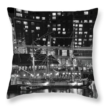 Throw Pillow featuring the photograph Bostonian Black And White by Frozen in Time Fine Art Photography