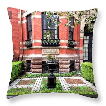 Boston's Back Bay Throw Pillow