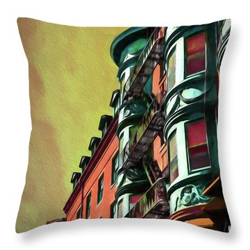 Boston's Famous North Square Throw Pillow