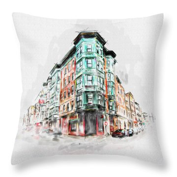 Bostons North End 222 1 Throw Pillow