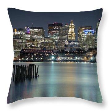 Boston's Skyline From Lopresti Park Throw Pillow
