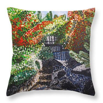 Botanic Garden Merano 1 Throw Pillow