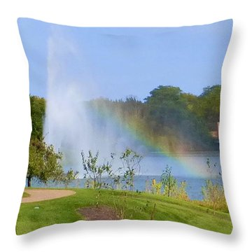 Botanic Rainbow Throw Pillow