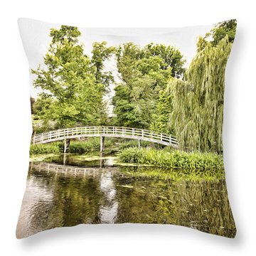 Botanical Bridge - Van Gogh Throw Pillow