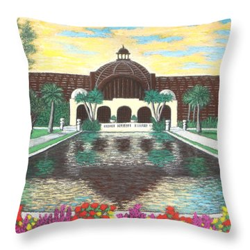 Botanical Building In Balboa Park 01 Throw Pillow