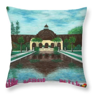 Botanical Building In Balboa Park 02 Throw Pillow