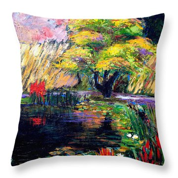Botanical Garden In Lund Sweden Throw Pillow