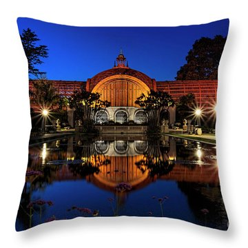 Botanical Gardens At Balboa Throw Pillow