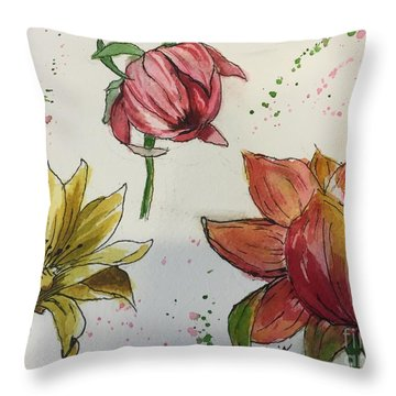 Botanicals Throw Pillow by Lucia Grilletto