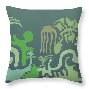 Botaniscribble Throw Pillow by Kevin McLaughlin