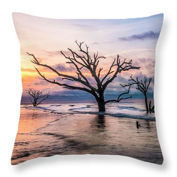 Botany Bay Dawn Throw Pillow