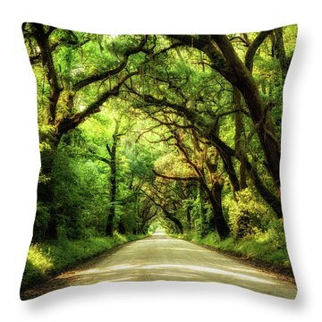 Botany Bay Road Throw Pillow