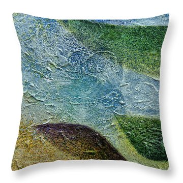 Throw Pillow featuring the painting Botany I by John Hansen
