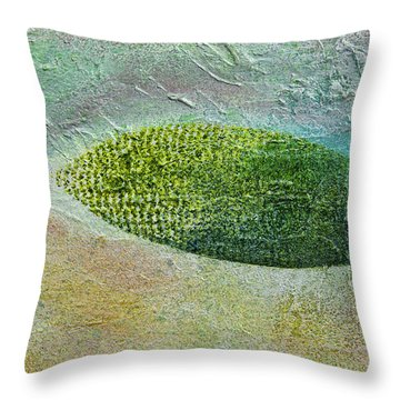 Throw Pillow featuring the painting Botany II by John Hansen