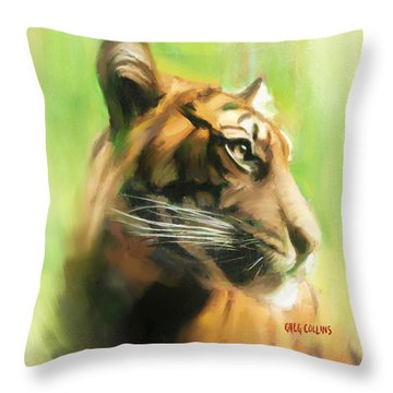 Bote Danjere Throw Pillow by Greg Collins