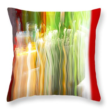 Throw Pillow featuring the photograph Bottle By The Window by Susan Capuano