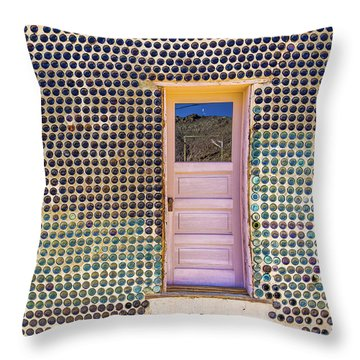 Bottle House Throw Pillow