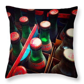 Throw Pillow featuring the photograph Bottle Necks by Olivier Calas