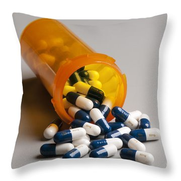 Bottle Of Cymbalta Capsules Throw Pillow