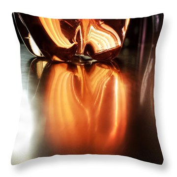 Bottle Reflection - Abstract Colorful Art Square Format Throw Pillow by Matthias Hauser
