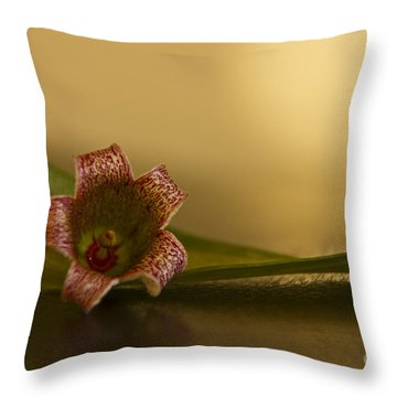 Bottle Tree Flower Throw Pillow