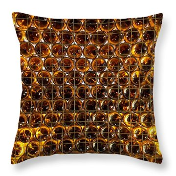 Bottles Of Beer On The Wall Throw Pillow