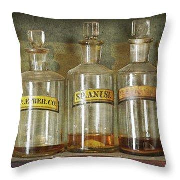 Bottles Throw Pillow
