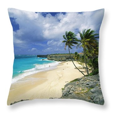 Bottom Bay, Barbados Throw Pillow