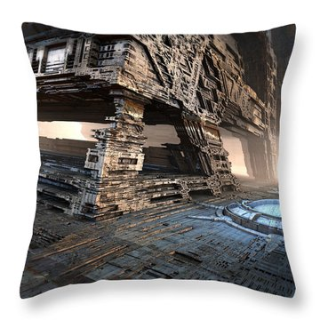 Bottom Level Throw Pillow by Hal Tenny