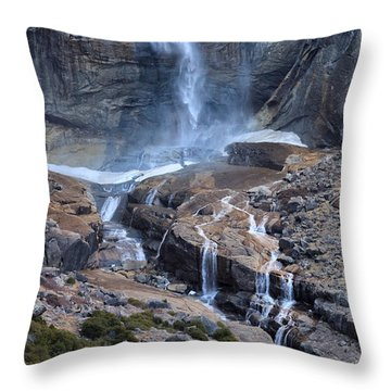 Bottom Part Of Upper Yosemite Waterfall Throw Pillow