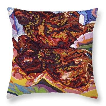 Boucherie Hamdane Freres II Throw Pillow by Robert SORENSEN