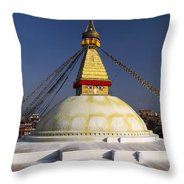 Boudhanath Stupa Throw Pillow