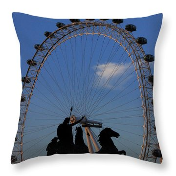 Boudicca's Eye Throw Pillow