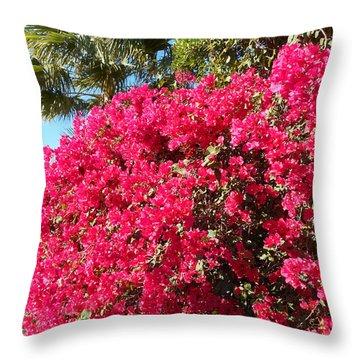 Bougainvillas 1 Throw Pillow