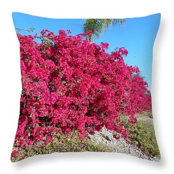 Bougainvillas 3 Throw Pillow