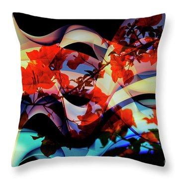 Throw Pillow featuring the photograph Bougainvillea At Joe's Secret Garden IIi by Al Bourassa